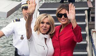 Melania i Brigitte. Uroczy dzień pierwszych dam w Paryżu