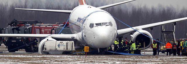Incydent na lotnisku w Katowicach - zobacz zdjęcia