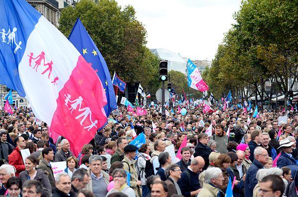 Demonstracja w Paryżu