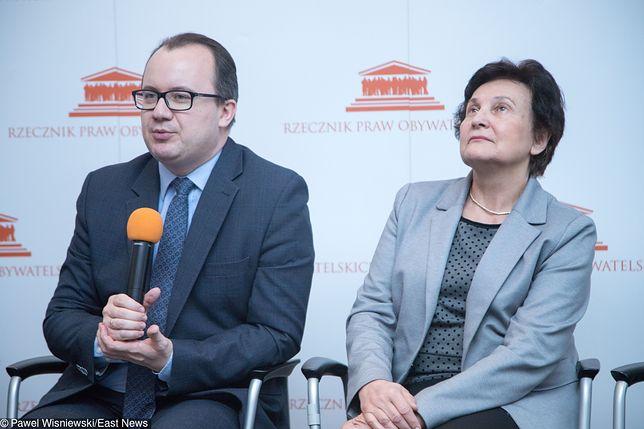 Rzecznik praw obywatelskich Adam Bodnar i jego zastępczyni dr Hanna Machińska