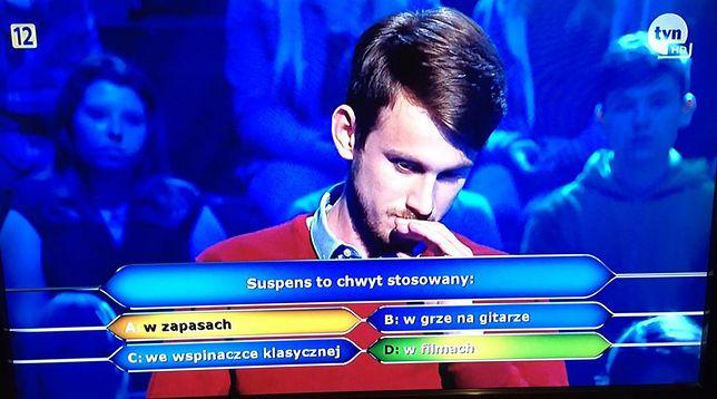 Uczestnik odpadł na banalnym pytaniu