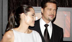 Pitt i Jolie podczas rozdania nagród w Santa Monica w 2008 roku
