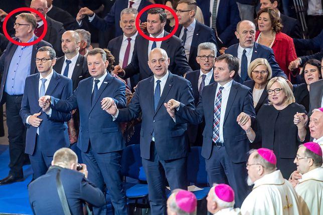 Senator Waldemar Bonkowski i poseł Łukasz Zbonikowski na urodzinach Radia Maryja byli tuż za najważniejszymi politykami PiS