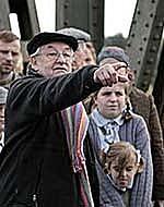 Andrzej Wajda na planie filmu