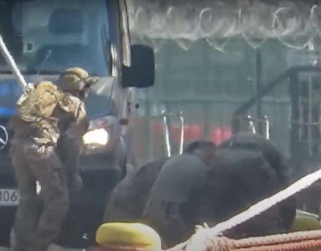 Śmiertelny wypadek komandosa GROM. Jest decyzja ws. śledztwa (screen z nagrania, na którym widać moment wypadku)