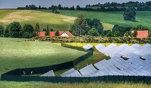 Fragment farmy fotowoltaicznej na Dolnym Śląsku