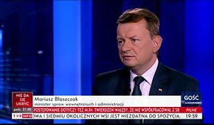 """Mariusz Błaszczak, wiceprezes PiS jako """"Gość Wiadomości"""""""
