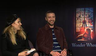 """Łukasz przeprowadza wywiad z Juno Temple i Justinem Timberlake'm w ramach promocji filmu """"Na karuzeli życia"""" Woody'ego Allena"""