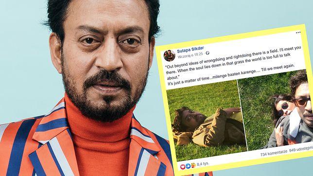 Miesiąc po śmierci Irrfana Khana żona zmarłego aktora dodała na FB wzruszający wpis