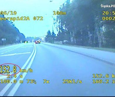 Ponad 150 km/h w terenie zabudowanym. Pościg nagrała kamera