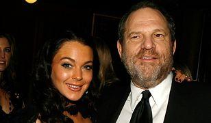 """Lindsay Lohan znowu """"błysnęła"""". Aktorka broni Harveya Weinsteina. """"Jego żona powinna przy nim być"""""""