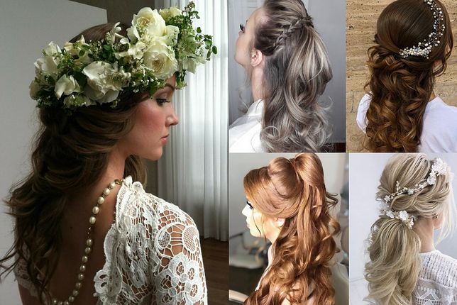 Fryzury ślubne z długich włosów to najczęściej rozpuszczone lub luźno podpięte kosmyki