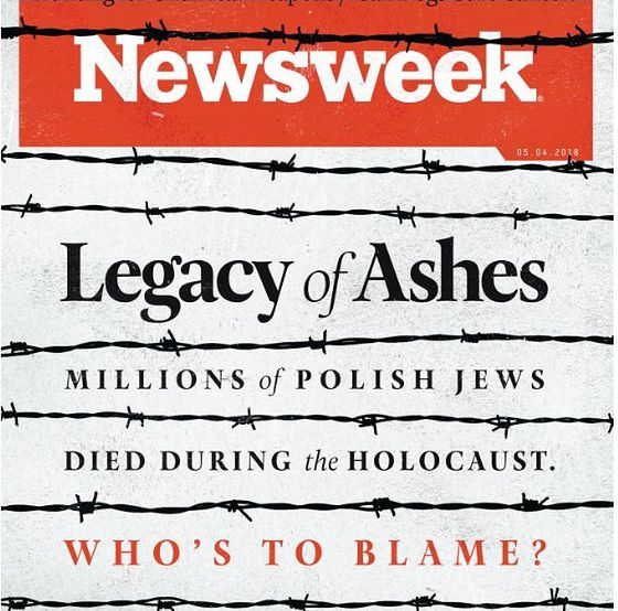 """Ustawa o IPN trafiła na okładkę amerykańskiego """"Newsweeka"""""""