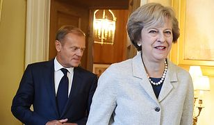 Donald Tusk i Theresa May