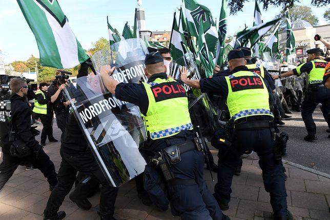 Marsz neonazistów w Szwecji. Doszło do bójek z policją