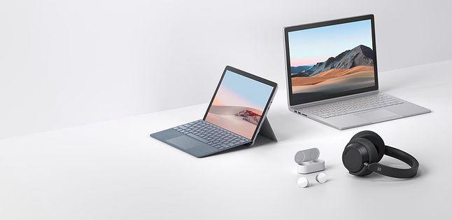 Surface Book 3 wraz z innymi nowo zapowiedzianymi produktami Microsoftu, w tym Surface Go 2, fot. Microsoft