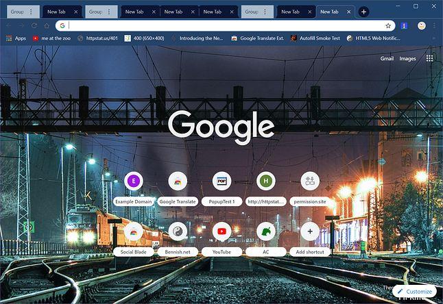 Grupowanie kart w Google Chrome, źródło: bugs.chromium.org.