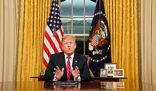 Trump straszył Amerykanów i przekonywał do muru. Kryzysu politycznego jednak nie skończył