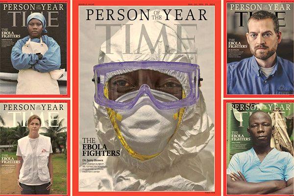 """Walczący z Ebolą bohaterami okładki """"Time''a"""""""