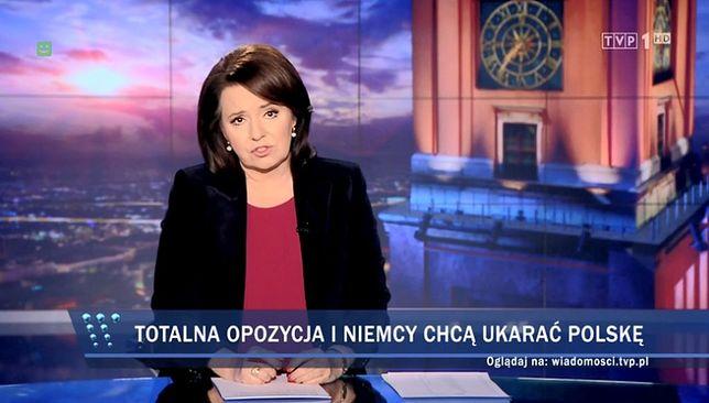 """Zdjęcie z głównego wydania """"Wiadomości""""."""