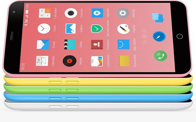 Wygląd M1 nieodparcie kojarzy się z iPhone 5c, producent zadbał nawet o to, by odcienie kolorystyczne były jak najbardziej zbliżone do pierwowzoru.