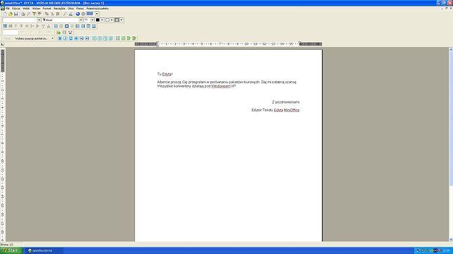 Odkupuje winy dla MiniOffice. Porównanie pakietów biurowych uważam za błąd życia