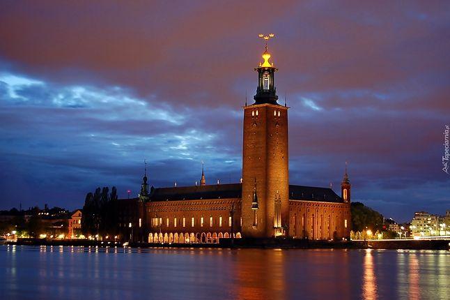 Ratusz sztokholmski w czasie wręczania Nagród Nobla