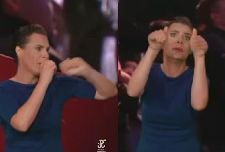 Powróciła i znów skradła show. Nietypowe tłumaczenie na język migowy w TVP