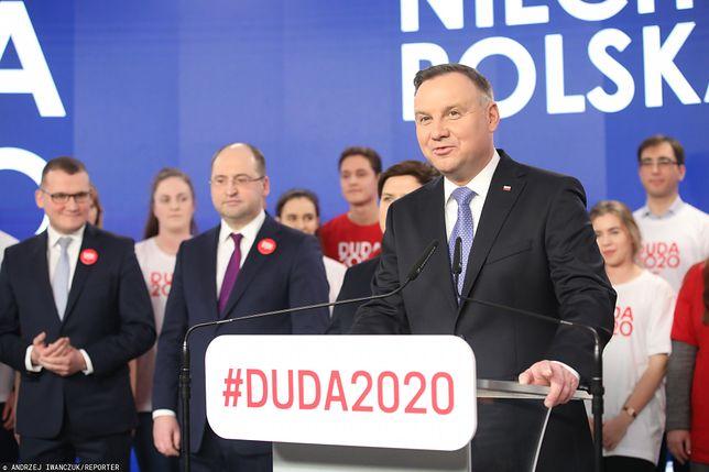 Wybory prezydenckie 2020. Prezydent Andrzej Duda zaprezentował sztab wyborczy