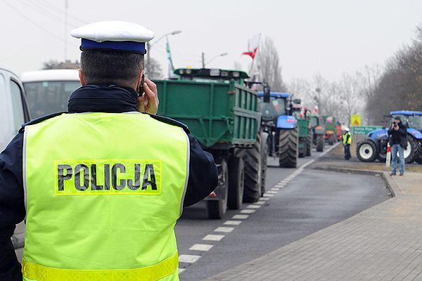 Traktory nie wjadą do Warszawy. Policja zapowiedziała kontrole