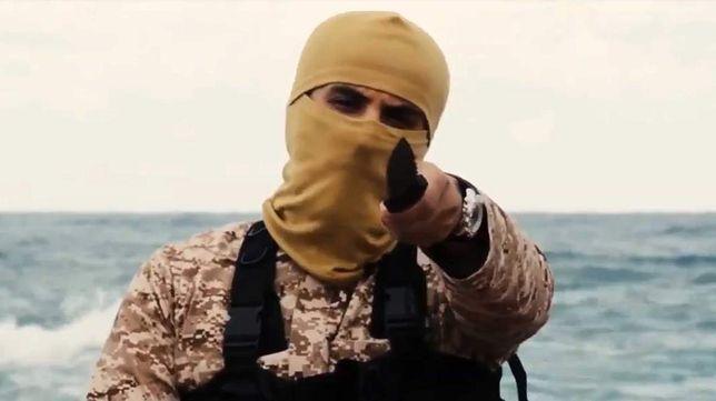 Kadr z jednego z filmów, opublikowanych przez ISIS