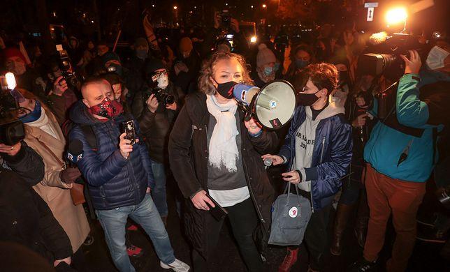 Aborcja w Polsce. Strajk Kobiet reaguje na ruch TK. Na zdjęciu liderka Marta Lempart