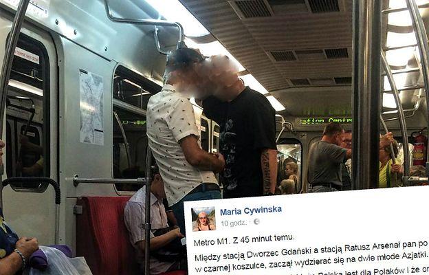 Rasistowski incydent w warszawskim metrze. Pijany mężczyzna zwyzywał dwie Azjatki