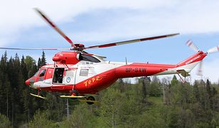 Kobieta została przetransportowana do szpitala helikopterem TOPR