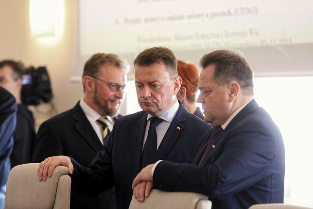 Mariusz Błaszczak odniósł się też do słów Donalda Tuska oraz protestu policjantów