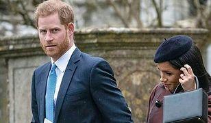 Książę Harry i księżna Meghan na chrzcinach Leny Tindall.