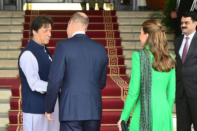 Kate Middleton i książę William z premierem Pakistanu