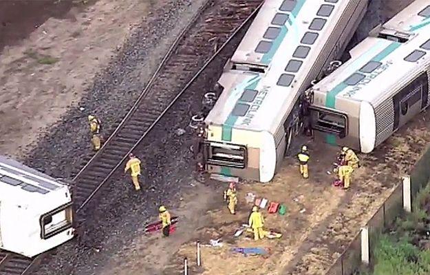 30 rannych w zderzeniu pociągu z ciężarówką w USA