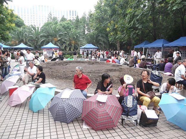 Matrymonialna giełda w centrum Szanghaju