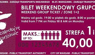 Bilet weekendowy - dla kogo jest nowa oferta ZTM-u?