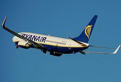 Samolot Ryanair odeskortowany przez myśliwce na lotnisko Stansted