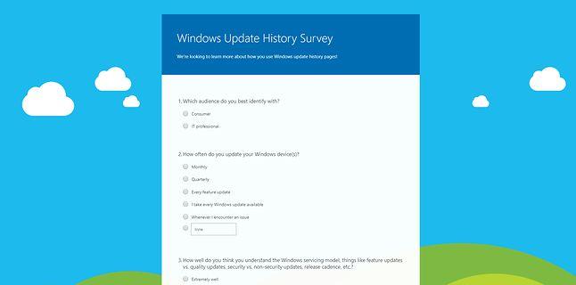 Microsoft chce się dowiedzieć, co sądzisz o aktualizacjach Windowsa 10.