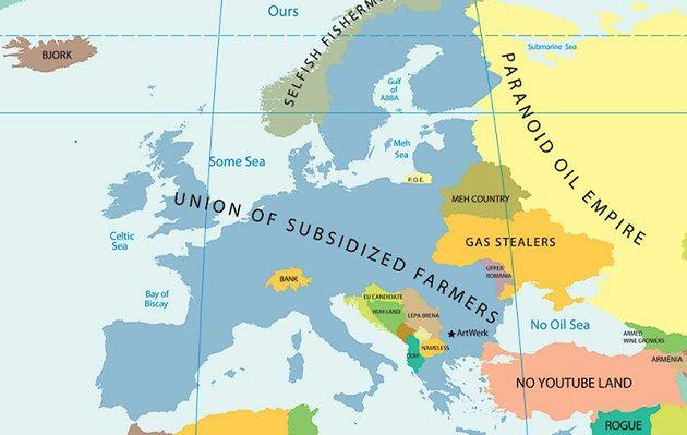 Mapa europejskich stereotypów