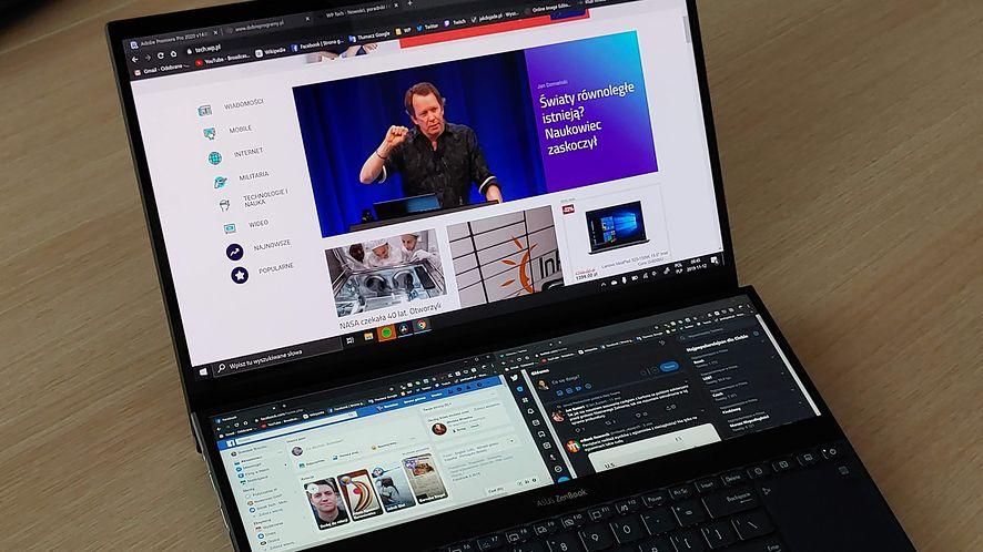 Asus Zenbook Pro Duo. Mistrz funkcjonalności