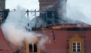 Zamek Książ dzień po pożarze