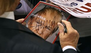 """Donald Trump podpisywał okładkę tygodnika """"Time"""" podczas kampanii wyborczej"""
