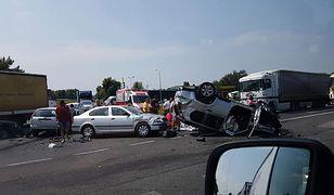 Wypadek na DK1 w kierunku Katowic