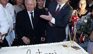 Jarosław Kaczyński na 70. urodzinach Antoniego Macierewicza