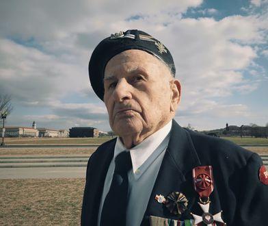 Weteran II wojny światowej, Płk. Romuald Lipiński w Waszyngtonie.