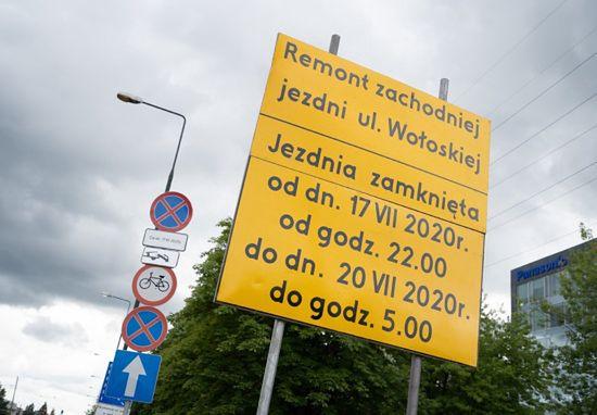 Warszawa. Ul. Wołoska będzie remontowana w weekend